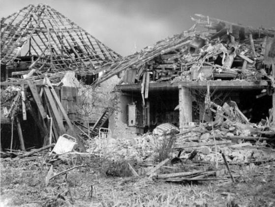 Oppau zerstörte Wohnhäuser
