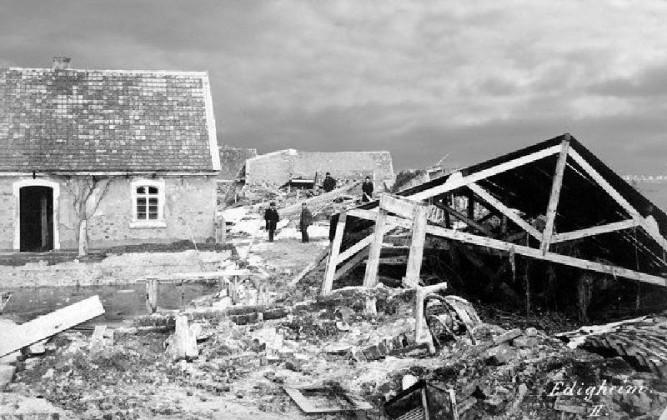 Danach: Zerstörung und Trümmer