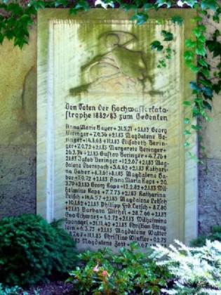 Gedenkstein für die Opfer der Hochwasserkatastrophe von 1882/83
