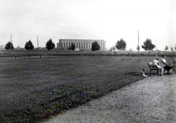 Oppau um 1913, Anbau der Parkanlage. Industriestr. / Stützelring (heute: Bgm. Trupp-Str / Bad Aussee-Str.)