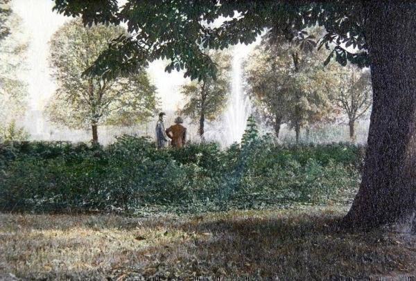 Oppauer Park coloriertes Bild
