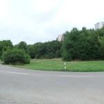 Geplanter Standort des Flüchtlingsheimes in Edigheim an der Einfahrt zur B9 Richtung Frankenthal