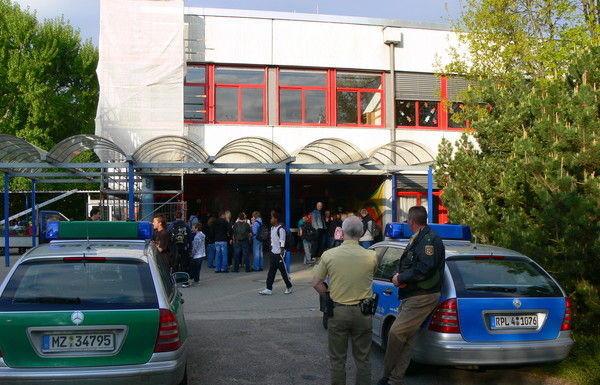 Schulzentrum Edifgheim, 23.4.2009, Androhung einer Racheaktion.