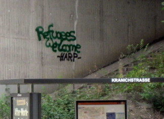 Grafitti an der Unterführungsmauer B 9 an der Oppauer Strasse