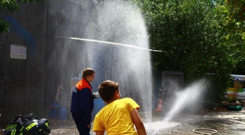 Wasser marsch: mit der Jugendfeuerwehr