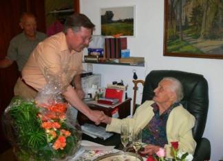Charlotte Klamroth feierte am 18. August 2009 ihren 106. Geburtstag