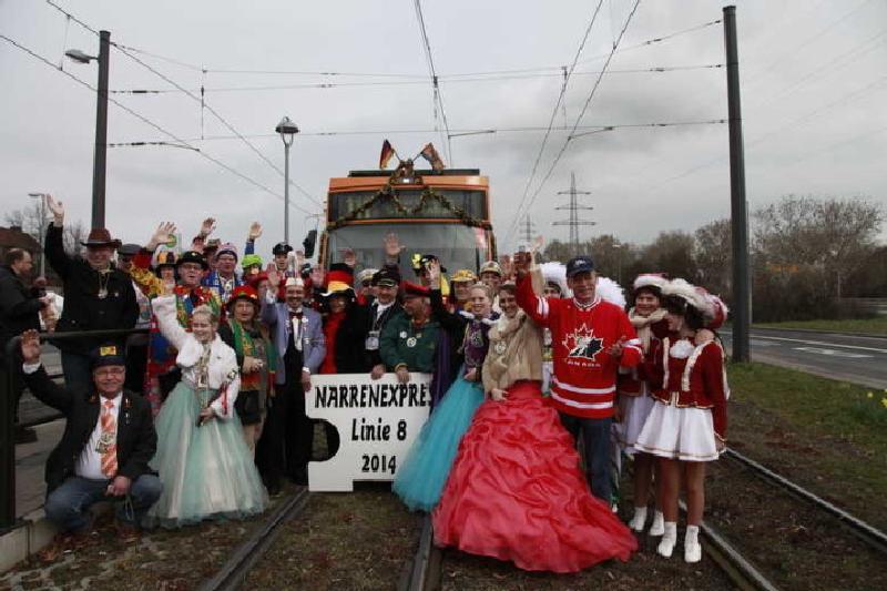Närrische Strassenbahn 2014
