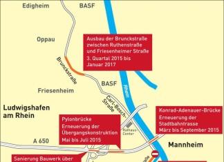 Baustellen in Ludwigshafen 2015