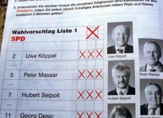 Wahlvorschlag der SPD Edigheim