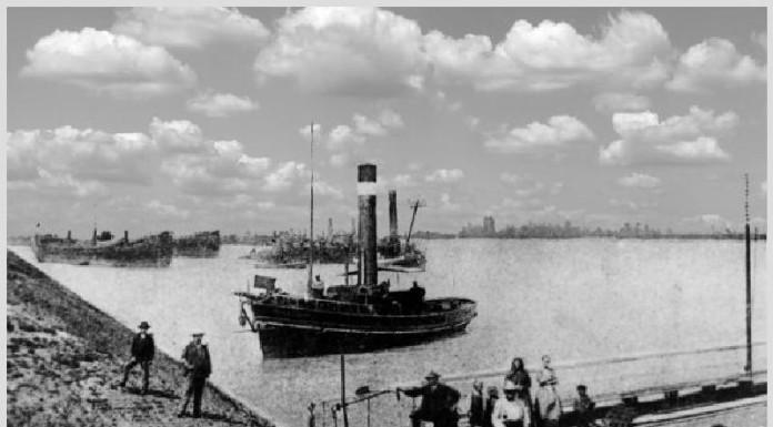 06.01.1911 Der Betrieb der Rheinfähre Oppau - Sandhofen wird eingestellt
