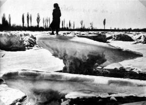 16.02.1929 Rhein zugefroren, Minus 22 Grad