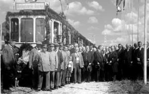 11.08.1927 an Stelle der Lokalbahn - Inbetriebnahme der Straßenbahnverbindung Oppau - Ludwigshafen