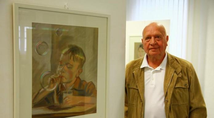Rainer Szymannsky mit Jugendbildnis
