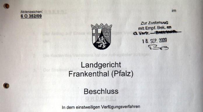 Urteil des Landgerichtes Frankenthal