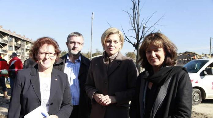 Bau- und Umwelt-Dezernent Klaus Dillinger (3vr), Julia Klöckner, MdL (2vr) und OB Dr. Eva Lohse (r)