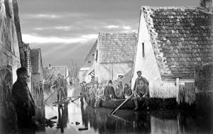 Oppau Januar 1883 Pfarrer auf der Rückfahrt von ein letzten Ölung