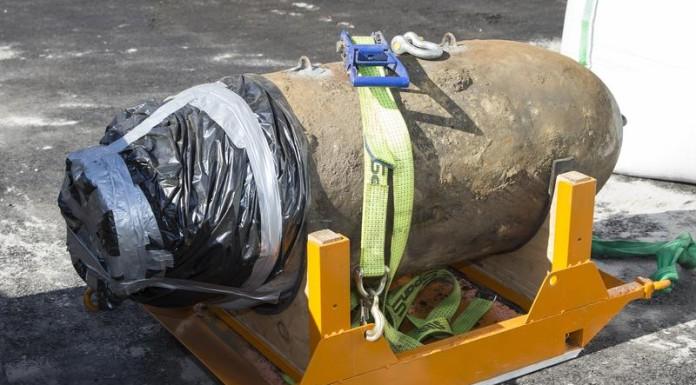 Bombenentschärfung auf dem Werksgelände