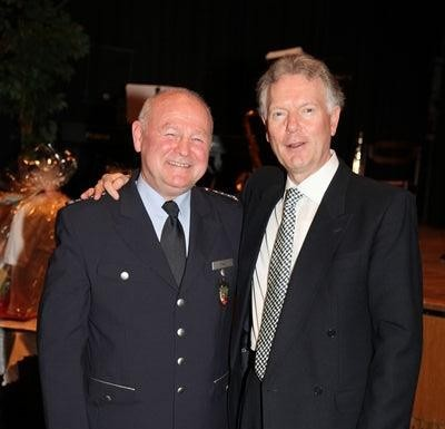 Georg Frey (l) Polizeipräsident Wolfgang Fromm (r)