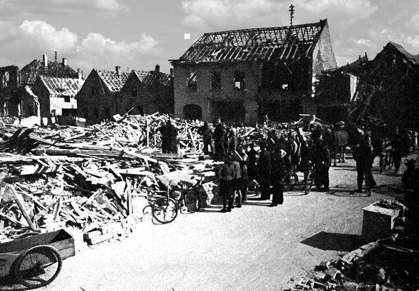 Oppau 1943 Schul-Str.(Grosse Gasse) Friedrich-Str.