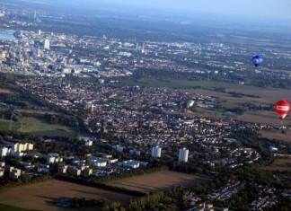 Ortsbezirk Oppau von oben