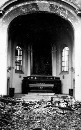 Oppau 23.9.1943 kath. Kirche Chorraum