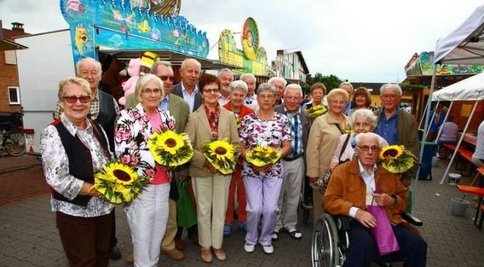 9 Jubiläumspaare beim Kerwe-Seniorennachmittag