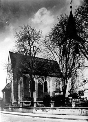 KI: Edigheim 1960 Oppauer-Strasse, alte kath. Kirche von 1740.