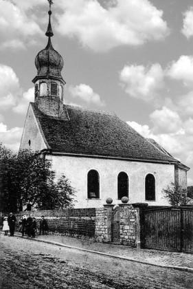 KI: Oppau 1921 alte katholische Kirche. 1771 - 1921.
