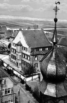 KI: Oppau 1923 Blick vom Turm der kath. Kirche (1923 - 1943).