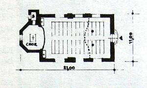 Die 1. Kirche 1771-1921 (Bauzeit 1771-1774)