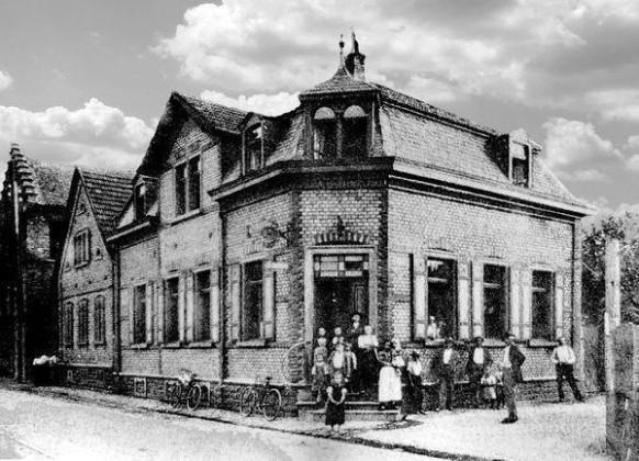 """LO: Oppau 1911 """"Zum Prinz Luitpold"""" Friesenh.-/Luitpold-Str. (Oberlin-Str.)"""