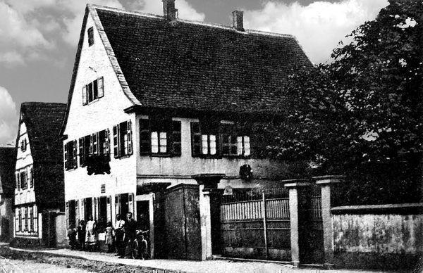 LO: Oppau um 1898 Kirchen-Str. Zum roten Löwen, Inh. Georg Fick.