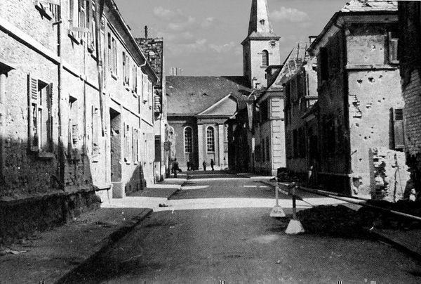 Oppau 1941. Rathaus-Str. (Martins-Gasse).