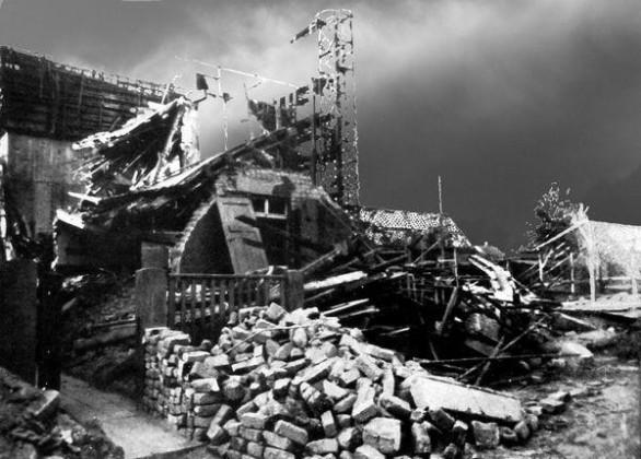 Oppau 1943 Bunker in der Max-Str. (Schinkel-Str.)