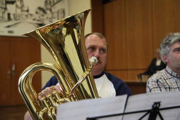 Oppau 7.5.2012 Eine Orchesterprobe beim modernen Blasorchester Kurpfalz.