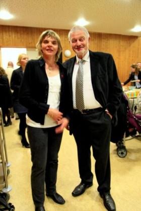Catherine Meier - Mitglied der offiziellen, französischen Delegation mit Hubert Eisenhauer Vorsitzender der ARGE Oppau