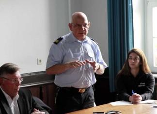 Der Leiter der Feuerwehr in Ludwigshafen, Peter Friedrlich
