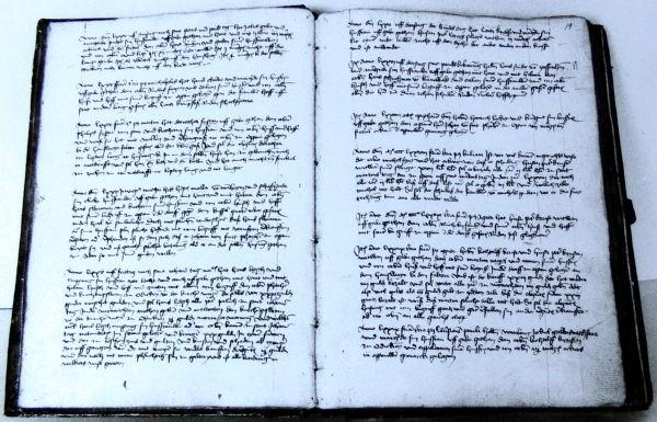 Oppauer Dorfgerichtsbuch 1467-1603. Aufn.v. 27.4.1978