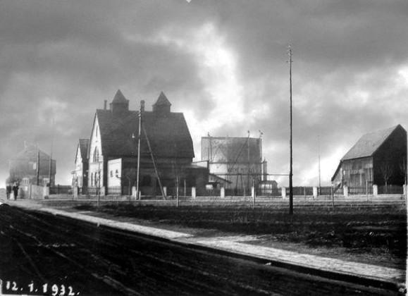 OR: Oppau 12.Januar 1932 Westend-Str. (Friedrich-Str.), Gasfabrik
