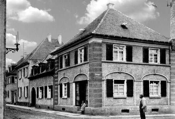 OR: Oppau 1925 Kirchen-Str./Hinkelgasse.