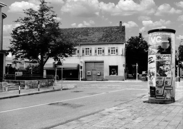 OR: Edigheim um 1950 Oppauer-./Dalberg-Str.(Bgm Fries-Str.)