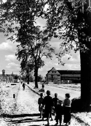 OR: Edigheim 1945 Oppauer-Str. Ortseingang von Frankenthal aus