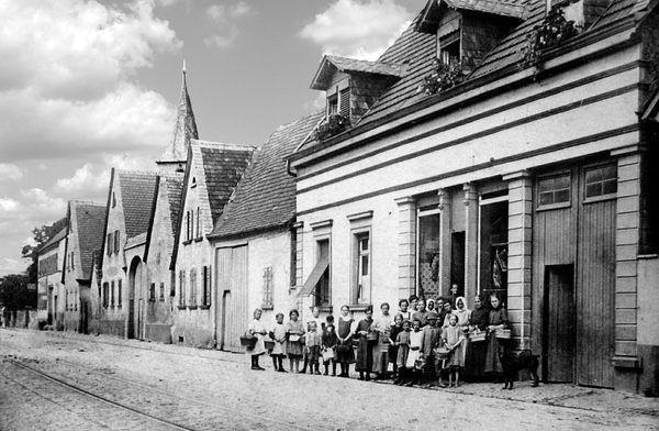 OR: Edigheim um 1930 Oppauer-Strasse