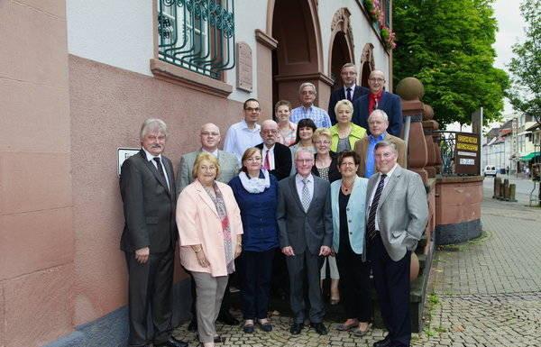 Ortsbeirat 8.7.2014, konstituierende Sitzung.Ortsbeiratsmitglieder.