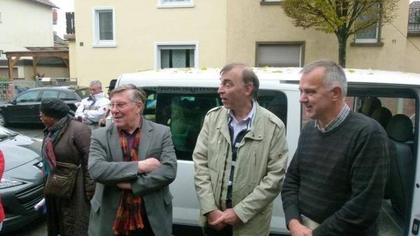 Ortsvorsteher U.Scheuermann, Thomas Meier, Bürgermeister Jean-Marc Delafraye
