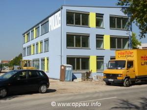 Oppau 22.9.2010. Neubau der Polizeiinspektion II in Ludwigshafen-Oppau. PI 2 von der Friesenheimer-Strasse aus gesehen.