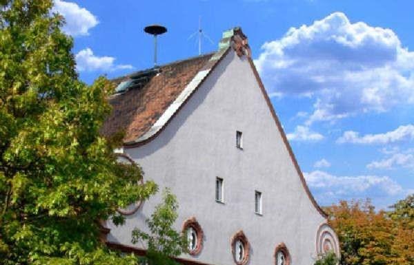 Rathaus, Georg-Hüter-Platz 26 Oppau 1916 errichtetes Bauwerk von Arch. Friedrich Pützer, Darmstadt.