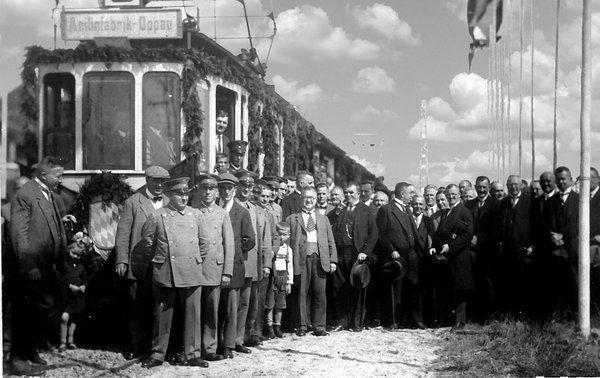 ST: Oppau 11. August 1928 Verfassungstag - Strassenbahn Einweihung
