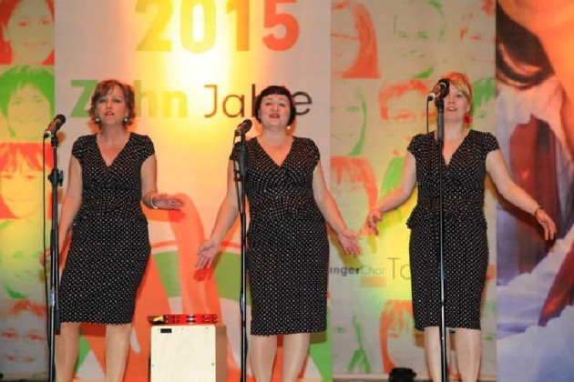 Die Polka Dots: Astrid Schmitt, Silke Grünewald, Brigitte Becker, Barbara R. Grabowski.