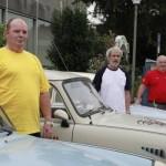 v.r.: Trabbi-Freunde Stefan Natter, Sigmar Fabian und Horst Rösler